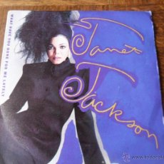 Discos de vinilo: JANET JACKSON - WHAT HAVE YOU DONE FOR ME LATELY / HE DOESN`T KNOW I`M ALIVE - 1986. Lote 50374868