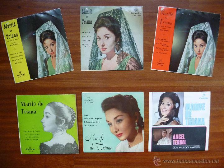 COLECCION MARIFE DE TRIANA 6 SINGLE COLUMBIA ALHAMBRA (Música - Discos - Singles Vinilo - Flamenco, Canción española y Cuplé)
