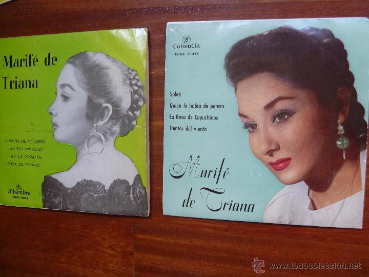 Discos de vinilo: Coleccion Marife de Triana 6 single columbia alhambra - Foto 2 - 50377547