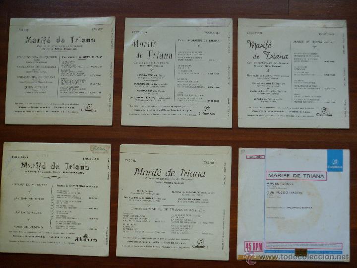 Discos de vinilo: Coleccion Marife de Triana 6 single columbia alhambra - Foto 3 - 50377547