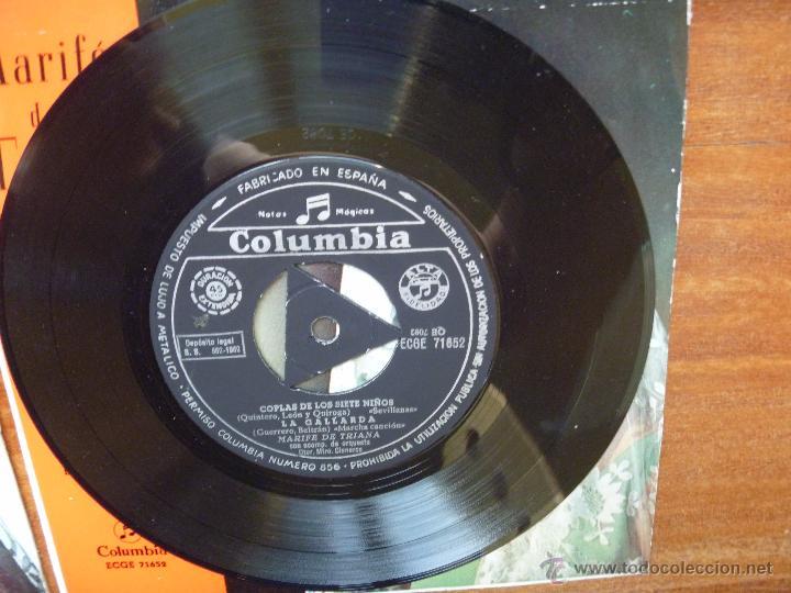 Discos de vinilo: Coleccion Marife de Triana 6 single columbia alhambra - Foto 6 - 50377547