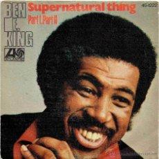 Discos de vinilo: BEN E. KING SUPERNATURAL THING + 1 SINGLE ATLANTIC 1975 @ SOUL FUNK @ NUEVO. Lote 50377818