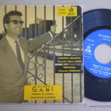 Discos de vinilo: TRICARDO GABI - SILBANDO MELODIAS + 3 - EP ODEON 1960. Lote 50385311
