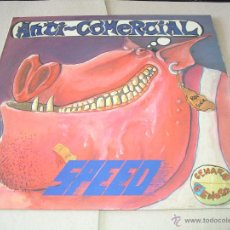 Discos de vinilo: SPEED LP ANTI-COMERCIAL GENARO EL GENOSO LA GENERAL ORIGINAL ESPAÑA 1988 + ENCARTE. Lote 50391996