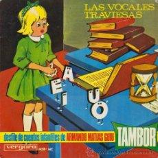 Discos de vinilo: DESFILE DE CUENTOS INFANTILES DE ARMANDO MATÍAS GUIU - LAS VOCALES TRAVIESAS - EP - 1966. Lote 50392132