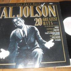 Discos de vinilo: AL JOLSON LP GREATEST HITS. THE VERY BEST .... MADE IN GERMANY. Lote 50396420