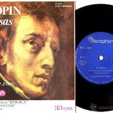 Discos de vinilo: RAYMOND TROUARD (PIANO) - POLONESAS DE F.CHOPIN - SN EP 3 TEMAS A 33 RPM, RARISIMA EDICION ESPAÑOLA. Lote 50397730