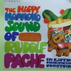 Discos de vinilo: THE HAPPY HAMMOND SOUND OF RUDOLF PACHE IN LATIN AMERICAN RHYTHM - 1970 NUEVO. Lote 50398116