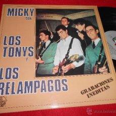 Discos de vinilo: MICKY CON LOS TONYS Y LOS RELAMPAGOS GRABACIONES INEDITAS LP 1984 ALLIGATOR EXCELENTE ESTADO. Lote 50400397