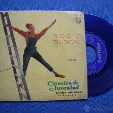 Discos de vinilo: ROCIO DURCAL CANCION DE JUVENTUD + 3 EP SPAIN 1962 PDELUXE. Lote 50409054