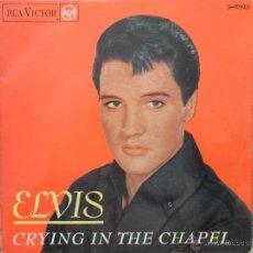 Discos de vinilo: ELVIS PRESLEY. CRYING IN THE CHAPEL. + 3 TEMAS. RCA/VICTOR. AÑOS 60.. Lote 50409096