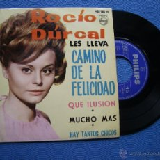 Discos de vinilo: ROCIO DURCAL CAMINO DE LA FELICIDAD + 3 EP SPAIN 1964 PDELUXE. Lote 50409111