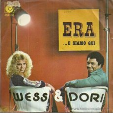 Discos de vinilo: WESS & DORI SINGLE SELLO NOVOLA EDITADO EN ESPAÑA FESTIVAL DE EUROVISION AÑO 1975 ITALIA, PROMOCIONA. Lote 50410579