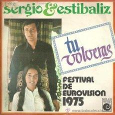Discos de vinilo: SERGIO & ESTIBALIZ SINGLE SELLO NOVOLA EDITADO EN ESPAÑA FESTIVAL DE EUROVISION AÑO 1975 PROMO.. Lote 50410643