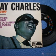Disques de vinyle: RAY CHARLES ESTOY SOLO + 3 EP SPAIN 1962 PDELUXE. Lote 50411435