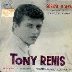 Discos de vinilo: TONY RENIS / SORRISI DI SERA / UN MUCHACHITO + 2 (EP 1964). Lote 50412064