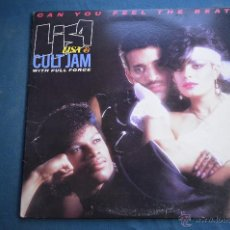 Discos de vinilo: MAXI SINGLE - LISA & CULT JAM - CAN YOU FEEL THE BEAT - 1985. Lote 50414314