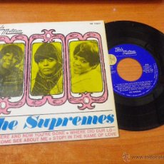 Discos de vinilo: THE SUPREMES LOVE IS HERE AND NOW YOU´RE GONE EP VINILO 1967 PROMO HECHO EN ESPAÑA MOTOWN DIANA ROSS. Lote 50414373
