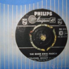 Discos de vinilo: MITCH MILLER , THE RIVER KWAI MARCH , THE ROWERY GRENADIERS , SINGLE HOLANDES. Lote 50414382