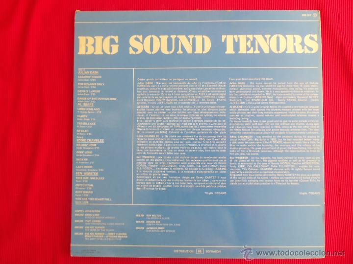 Discos de vinilo: BIG SOUND TENORS - JULIAN DASH - AL SEARS - EDDIE CHAMBLEE - BEN WEBSTER - Foto 2 - 50418270