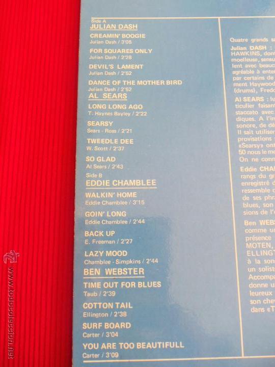 Discos de vinilo: BIG SOUND TENORS - JULIAN DASH - AL SEARS - EDDIE CHAMBLEE - BEN WEBSTER - Foto 3 - 50418270