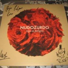 Discos de vinilo: LP NUDOZURDO ROJO ES PELIGRO FIRMADO LEOPOLDO MATEOS RICKY FALKNER META- EVERLASTING 2015 NUEVO. Lote 50419966