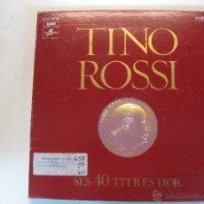 Discos de vinilo: TINO ROSSI SES 40 TITRES D'OR. COLUMBIA 1975. 3 LP'S +LIBRITO CON FOTOS Y LISTADO DE CANCIONES.. Lote 50422757