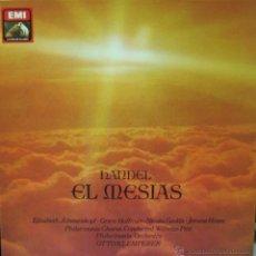Discos de vinilo: HANDEL-EL MESIAS 3 LP´S EN CAJA 1985 + LIBRETO SPAIN. Lote 61960939