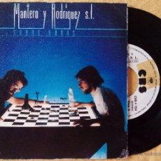 Discos de vinilo: MANTERO Y RODRIGUEZ S.L. SOBRE ONDAS + LA RECETA (CBS 1981) SINGLE PROMOCIONAL ESPAÑA. Lote 50427089