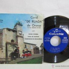 Discos de vinilo: CORO DE RUADA DE ORENSE - NEGRA SOMBRA + 2 TEMAS - EP - 1964 - VG+/VG+. Lote 50431897