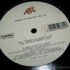 Disques de vinyle: MAT'S TRIBAL EP VOL 2 COMO LA COCA BONUS BEAT ESTA ES LOCA EP MAXI SINGLE VINILO VS. Lote 50434010