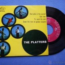 Discos de vinilo: THE PLATTERS RED SAILS IN THE SUNSET EP 1960 PDELUXE. Lote 98546423