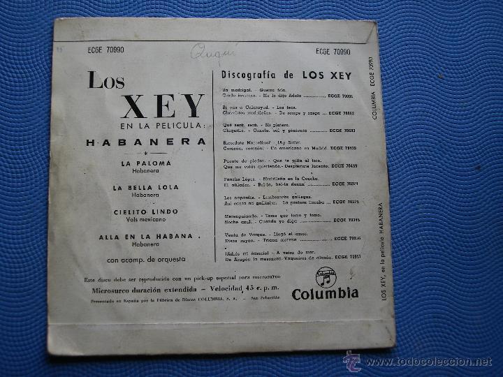 Discos de vinilo: LOS XEY CIELITO LINDO + 3 EP SPAIN 1959 PDELUXE - Foto 2 - 50436302