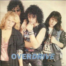 Discos de vinilo: OVERDRIVE SG PM RECORDS 1990 CAN'T WASTE MY TIME/ COME WITH ME HARD ROCK HEAVY METAL. Lote 293988993