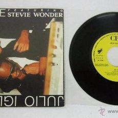 Discos de vinilo: JULIO IGLESIAS - MY LOVE - SINGLE - FEATURING STEVIE WONDER - 1 CARA - CBS 1988 PROMO - N MINT. Lote 50441039
