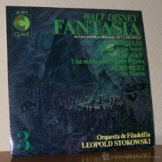 Discos de vinilo: ORQUESTRA DE FILADELFIA LEOPOLD STOKOWSKI -LP VINILO- BSO WALT DISNEY FANTASIA 3. Lote 50442582