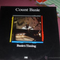 Discos de vinilo: COUNT BASIE. LP BASIE´S TIMING. MAESTROS DEL JAZZ. MADE IN SPAIN. 1988-1990.. Lote 50442927