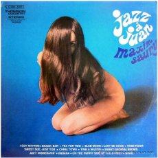 Discos de vinilo: MAXIM SAURY ET SON ORCHESTRE – JAZZ À JUAN - LP FRANCE - DUCRETET THOMSON 2 C 054-10301 - NUDE COVER. Lote 50443660