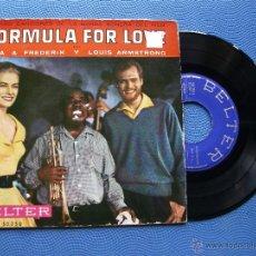Discos de vinilo: NINA&FREDERIK Y L.ARMSTRONG FORMULA FOR LOVE `+ 3 EP SPAIN 1959 PDELUXE. Lote 50446533