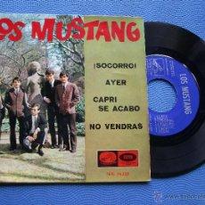 Discos de vinilo: LOS MUSTANG SOCORRO/AYER + 2 EP SPAIN 1965 PDELUXE. Lote 50446713