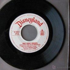 Discos de vinilo: DISNEYLAND. ALICIA EN EL PAIS DE LAS MARAVILLAS. 7INCH. HISPAVOX 1969. HL 084-12. Lote 50450778