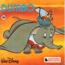 Discos de vinilo: CUENTODISCO BRUGUERA - WALT DISNEY, EP, DUMBO + 1, AÑO 1970. Lote 50457952
