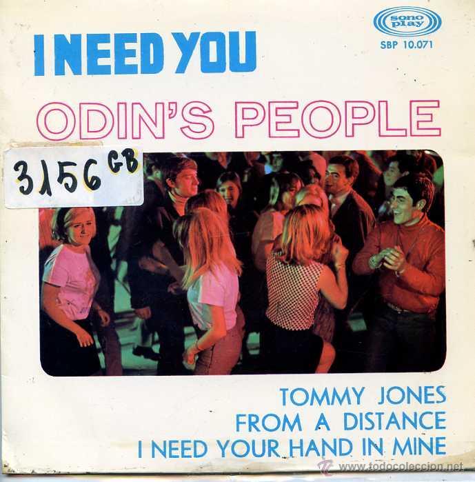 ODIN'S PEOPLE / I NEED YOU / TOMMY JONES + 2 (EP 1967) (Música - Discos de Vinilo - EPs - Pop - Rock Internacional de los 50 y 60)
