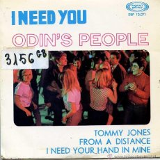 Discos de vinilo: ODIN'S PEOPLE / I NEED YOU / TOMMY JONES + 2 (EP 1967). Lote 50458434