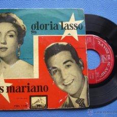 Discos de vinilo: LUIS MARIANO Y GLORIA LASSO CANASTOS+3 EP SPAIN 1958 PDELUXE. Lote 50461478