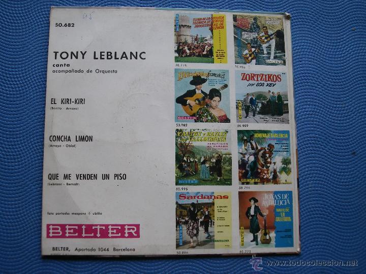 Discos de vinilo: TONY LEBLANC QUE ME VENDEN UN PISO + 2 EP SPAIN 1963 PDELUXE - Foto 2 - 50461494