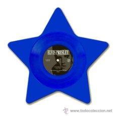 Discos de vinilo: ELVIS PRESLEY EP BLUE MOON VINILO 9 PULGADAS COLOR AZUL Y CON FORMA DE ESTRELLA. Lote 50526237