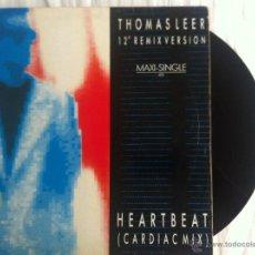 Discos de vinilo: MAXI THOMAS LEER-HEARTBEAT. Lote 50473639