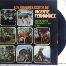 Discos de vinilo: LP VICENTE FERNANDEZ-LOS GRANDES EXITOS DE. Lote 50473970