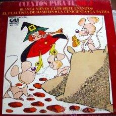 Discos de vinilo: 'CUENTOS PARA TÍ / VOL. 1'. LP 1973. BUEN ESTADO.. Lote 50476018